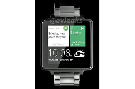 android wear smartwatch htc android wear smartwatch to be square shaped according