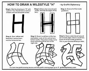 """How To Draw A WildStyle """"H"""" - free lesson and Handout ..."""