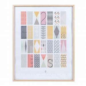 tableau en bois multicolore 60 x 75 cm collection With tableau maison du monde