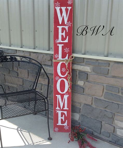 primitive christmas welcome sign christmas welcome sign