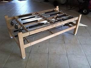 Custom golf club coffee table by john clark custommadecom for Golf coffee table