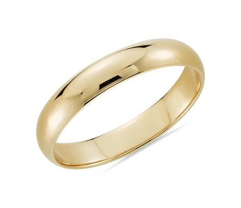 classic wedding ring in 14k yellow gold 4mm blue nile