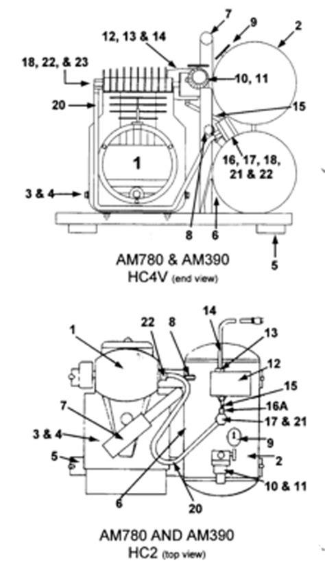 Emglo Air Compressor Parts