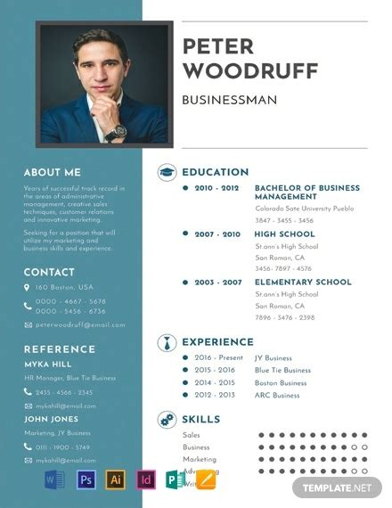 Cv Details Exle by Free Business Resume Template 2059 Resume