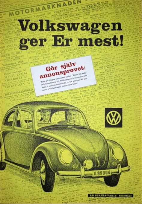 original vintage poster vw volkswagen beetle  poster