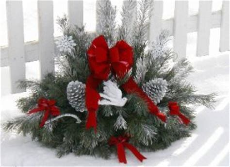 beautiful grave pillow for holiday cemetery decorating