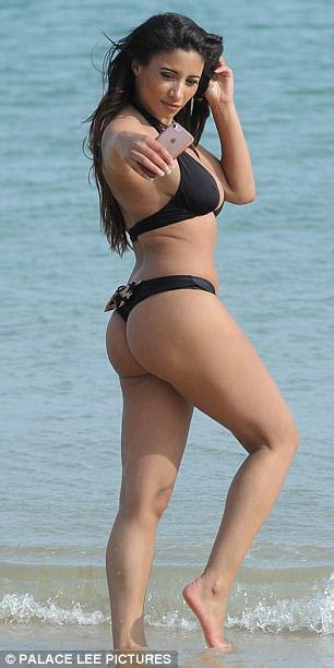 Kayleigh Morris strips to skimpy bikini in Tenerife ...