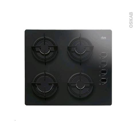 plaque de cuisine gaz plaque de cuisson 4 feux gaz 60 cm verre noir faure