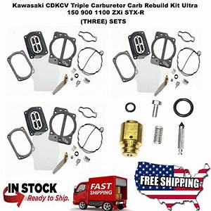 Kawasaki Cdkcv Triple Carburetor Carb Rebuild Kit Ultra