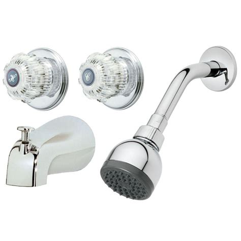 Two Handle Bathtub Faucet by Homewerks Worldwide 2 Handle 1 Spray Tub And Shower Faucet
