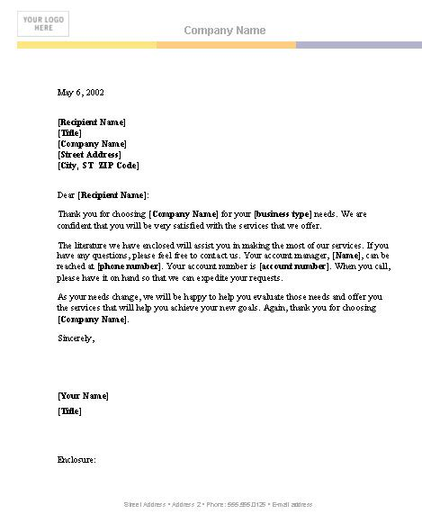 microsoft business letter template