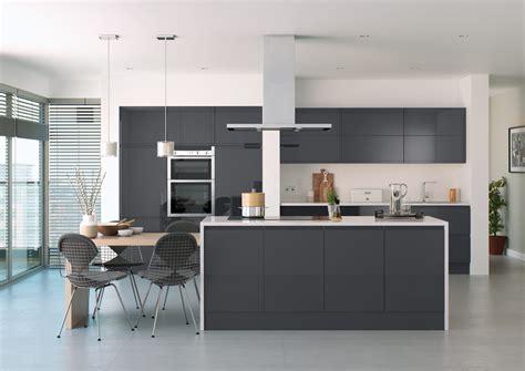 high gloss handleless kitchen collection white light