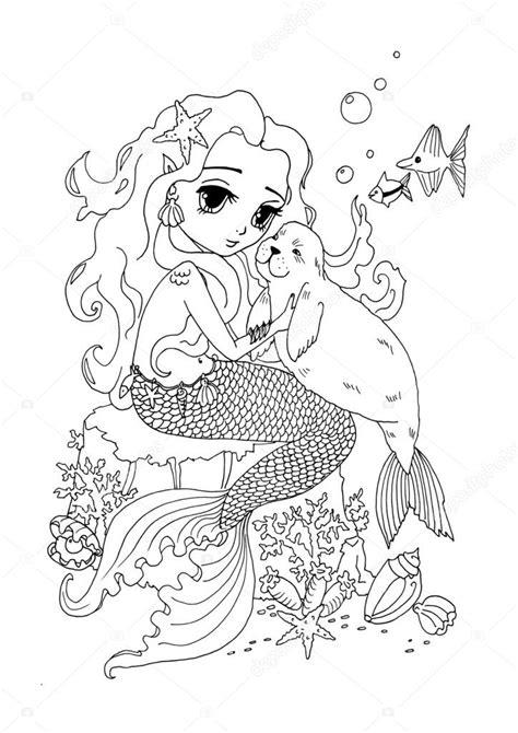 disegni di sirene da colorare disegni da colorare gatto la sirena e mare di pagina