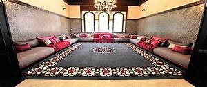 tapis salon marocain salon marocain deco With tapis de sol avec les meilleurs canapés convertibles