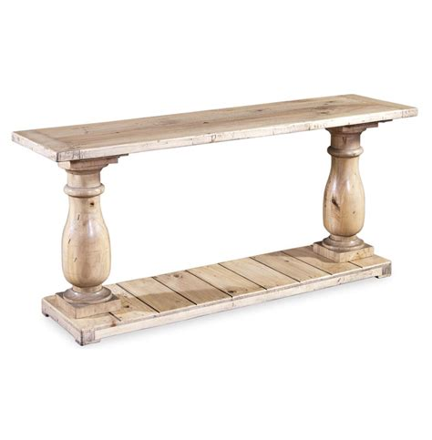 light wood sofa table ludlum reclaimed wood rustic light pine console table kathy kuo home