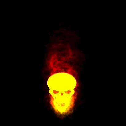 Skull Behance Burning Effect Skulls Transparent Effects