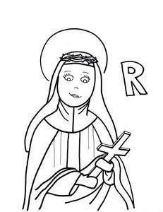 St Rose of Lima Coloring Page