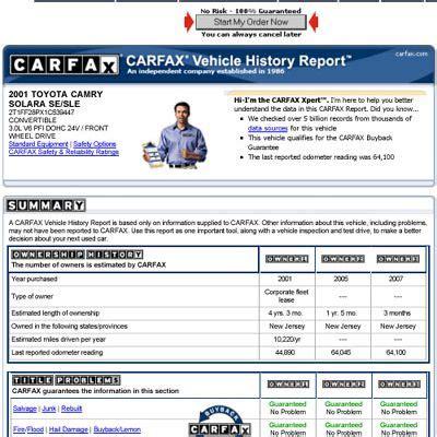 read  carfax report