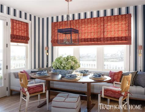 Cape Style Home Decorated Classic Color And Pattern a cape style home decorated with classic color and pattern