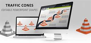 Traffic Cones Diagrams For Powerpoint  With Images