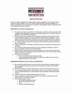 Domestic Violence Safety Plan Worksheet Lesupercoin