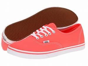 Vans Authentic Lo Pro Women s Sneaker Neon Coral Shoes