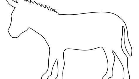 donkey pattern   printable pattern  crafts creating stencils scrapbooking