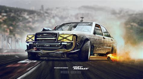 Mercedes Benz, Drift, Car, Adobe Photoshop, Drift Missile