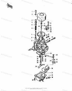 Kawasaki Motorcycle 1975 Oem Parts Diagram For Carburetor Parts   U0026 39 74  K