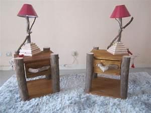 Lampe Chevet Bois Flotté : une table de chevet en bois choisir ou faire vous m me ~ Teatrodelosmanantiales.com Idées de Décoration