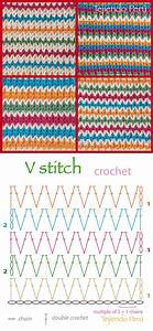 Crochet V Stitch Pattern  Diagram Or Chart