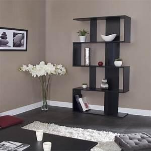 etagere design coloris noir caly bibliotheque et etagere With meuble salon moderne design 4 etagare design coloris noir caly bibliothaque et etagare