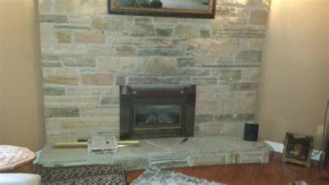 brick stone fireplace remove brick facing