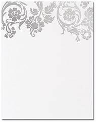silver border wedding invitation template
