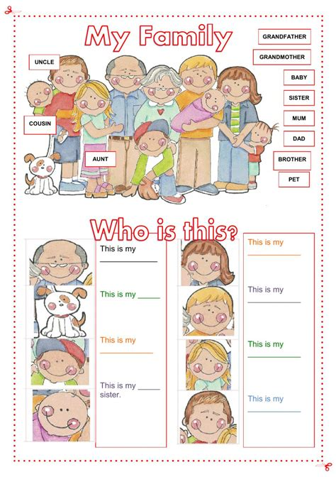 family interactive worksheet