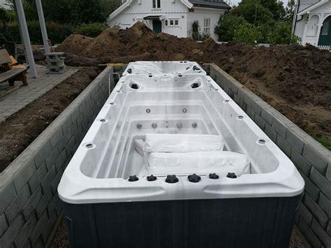 einbau whirlpool outdoor swim spa versenken