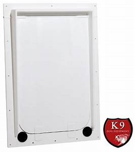 Magnador exterior framed dog door is constructed of for Dog door size by breed