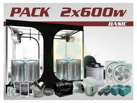 montage chambre de culture pack chambre de culture ventilé indé 2x600w hps grolux
