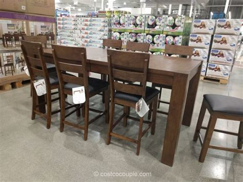 costco dining table in store universal broadmoore 9 piece dining set