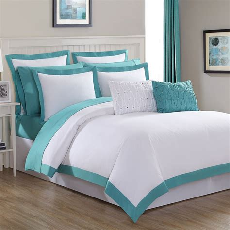Turquoise And White Duvet Cover by Turquoise Classic Duvet Set Everything Turquoise