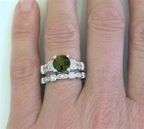 Unique Green Tourmaline And Diamond Engagement Ring In 14k. Modern Rings. Noor Fare Engagement Rings. Woven Wire Rings. Mountain Inspired Wedding Wedding Rings. Non Traditional Mens Wedding Wedding Rings. February Wedding Rings. Outdoors Wedding Rings. Unorthodox Wedding Rings