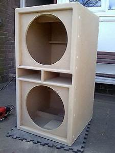 2 15 Subwoofer Box Design Pair Of Double 15 Quot Bass Bins Speaker Boxs Soundsystem Fane