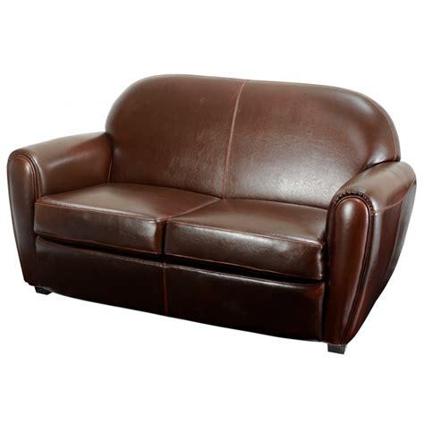 comparateur canapé inwood canapé croûte de cuir marron 2 places