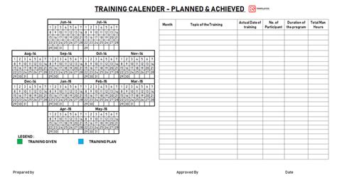 employee training plan template excel project annual