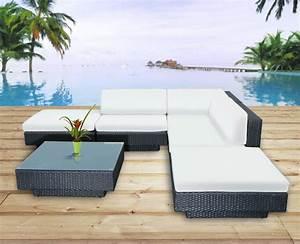 salon de jardin la foir fouille stunning salon de jardin With superb canape d angle exterieur resine 6 canape angle pas cher carrefour