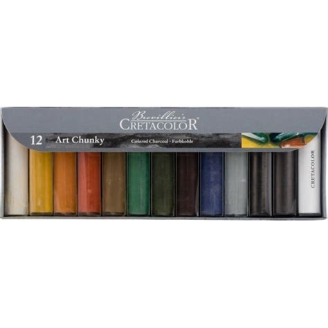 colored charcoal buy cretacolor chunky colored charcoal set of 12