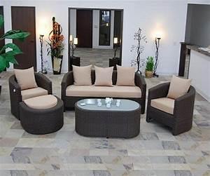 Salons De Jardins : salon de jardin casablanca 1249 r sine tress e ~ Teatrodelosmanantiales.com Idées de Décoration