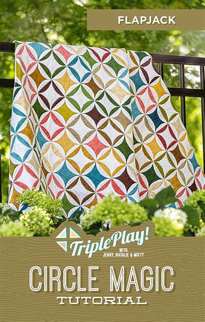 Circle Magic Triple Play Missouri Template Quilt