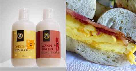 einstein bros bacon  cheese scented shampoo popsugar