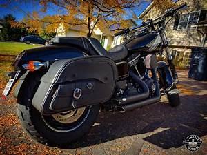 Harley Fat Bob : harley dyna fat bob motorcycle saddlebags side pocket shock cutout ~ Medecine-chirurgie-esthetiques.com Avis de Voitures
